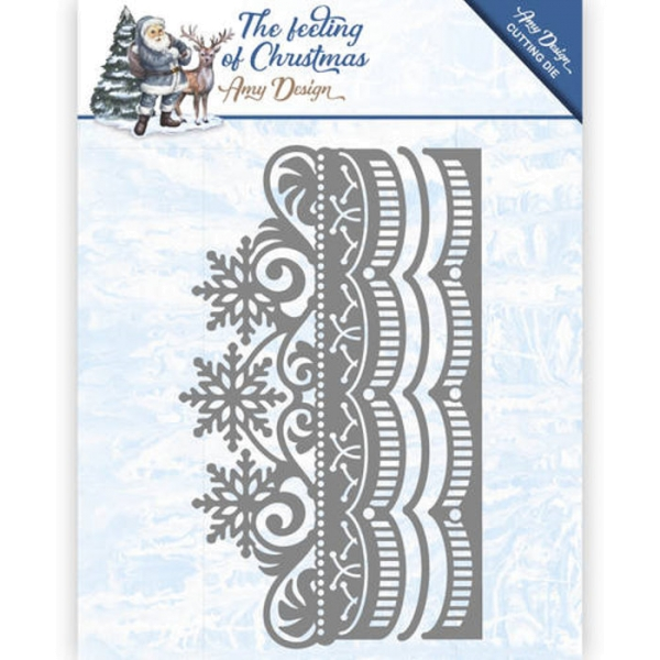 Ice Cryslal Border - The feeling of Christmas - Stanzschablone