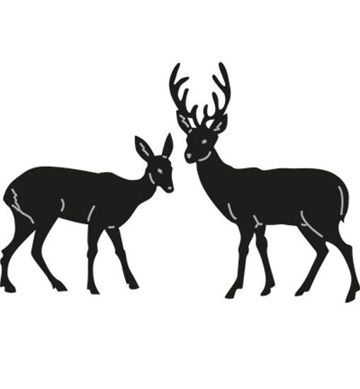 Tiny´s Deer / Hirsch / Reh - Stanzschablone