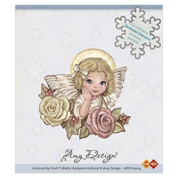 Engel auf Rosen - Stempel / Clingstamp