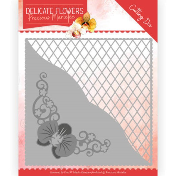 Delicate Square - Delicate Flowers Collection - Stanzschablone