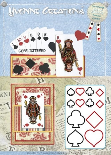 Men - Playing cards / Set - Stanzschablone