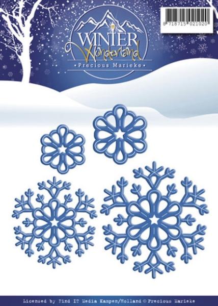 Schneeflocken - Stanz- und Prägeschablone