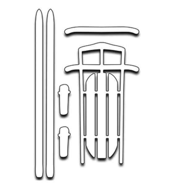 Sled n skis - Stanzschablonen