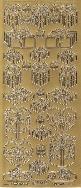 Sticker - Geschenke 2 in Gold - Format 10x23cm