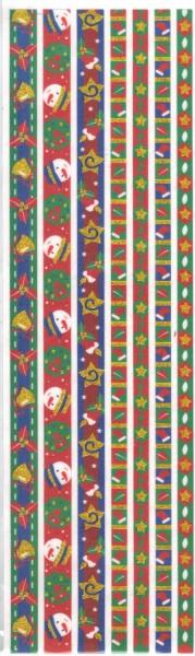 Stoffbordüren - Selbstklebend - 7 Stück - Kindermotive / Schneemann