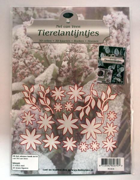 Blumenmotive - 3-D Stanzbogen / Stanzmotive