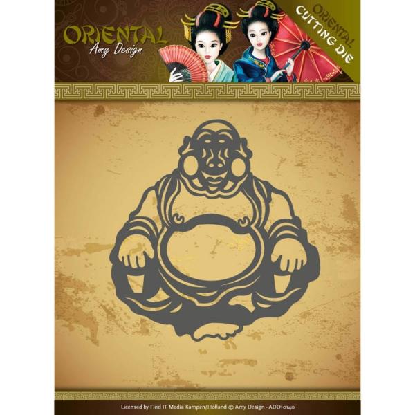 Happy Buddha - Oriental - Stanzschablone