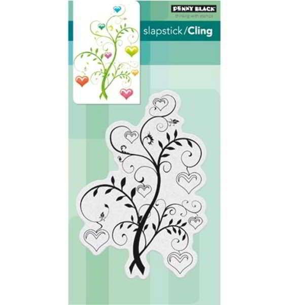 Blooming Hearts / Blühende Herzen - Stempel / Clearstamp