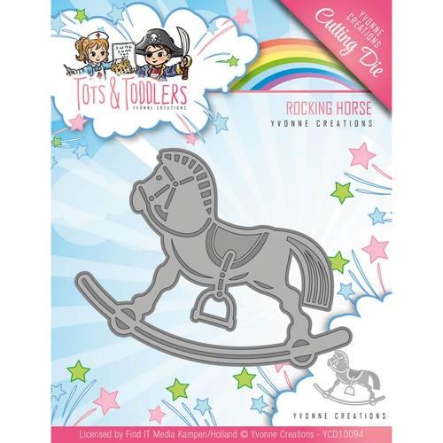 Schaukelpferd - Tots and Toddlers - Stanzschablone
