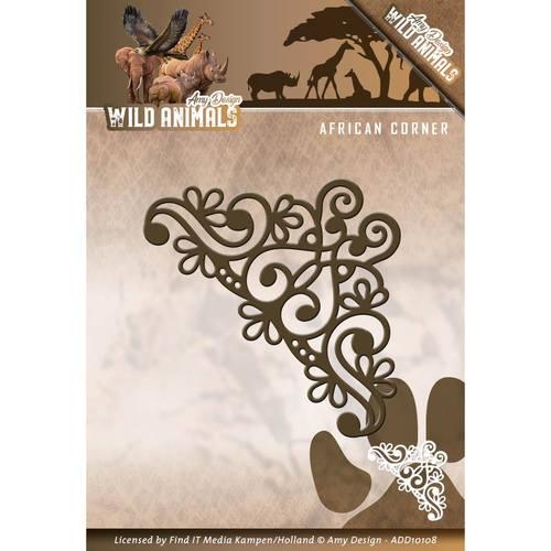 African corner- Wild Animals - Stanzschablone
