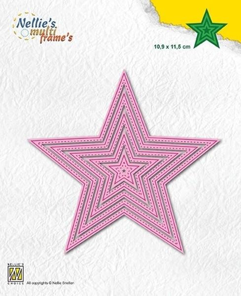 5-point Stars / Sterne - Stanzschablonen