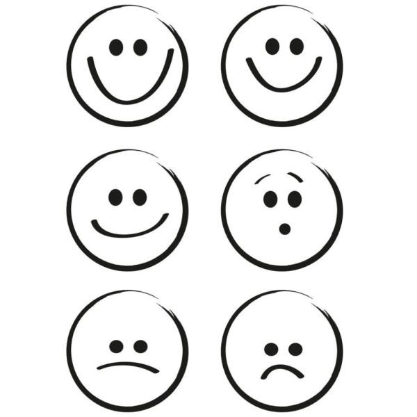 Smileys / Smile - Stempel - Clearstamp