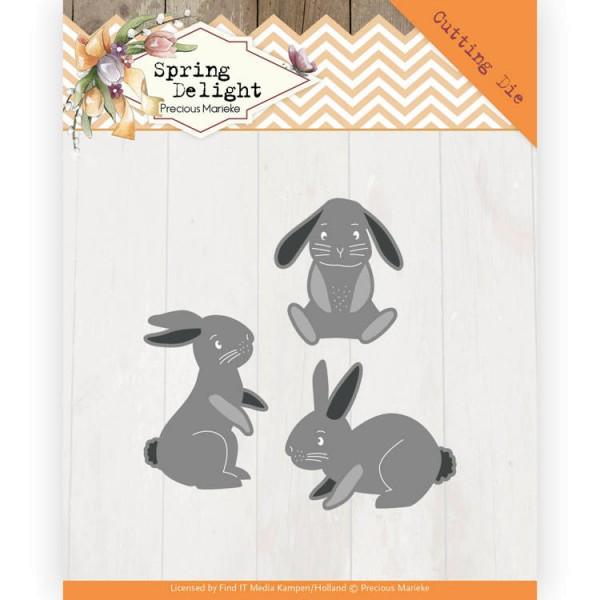 Spring Bunnies / Hasen / Kaninchen - Stanzschablone