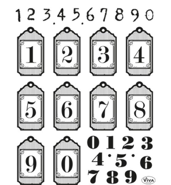 Zahlen - Stempel - Clearstamp