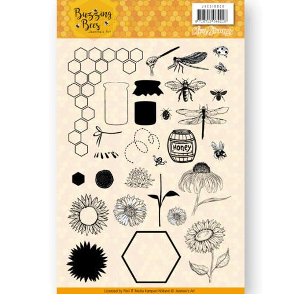 Buzzing Bees - Clearstamp / Stempel