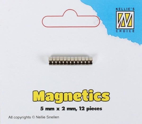 Mini Magnete - Magnetics Karten-verschluss 5 x 2 mm / 12 Stück