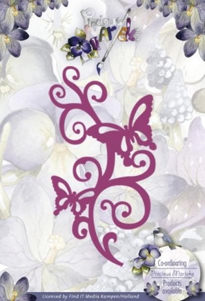 Swirl mit Schmetterlingen - Stanzschablone
