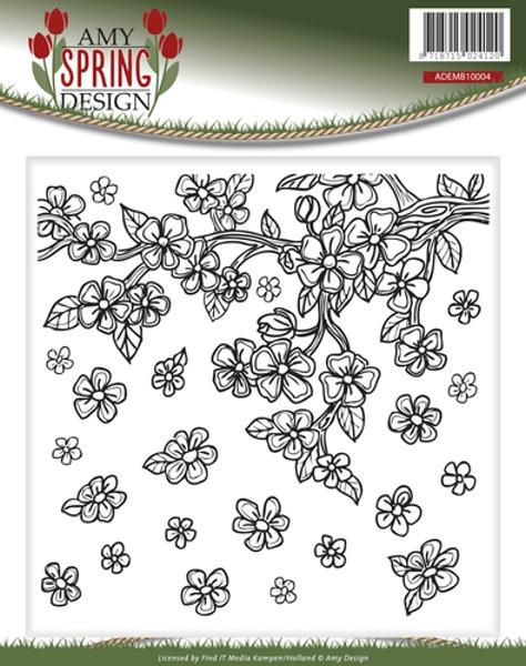 Spring / Frühling - Prägeschablone / Embossing Folder