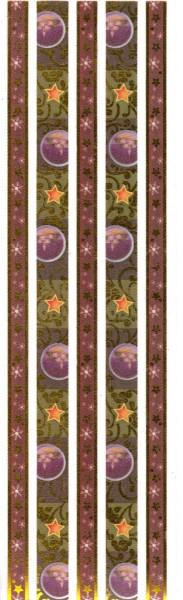 Stoffbordüren - Selbstklebend - 5 Stück - grün / braun
