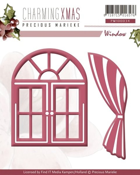 Fenster ...und Vorhang - Stanz- und Prägeschablone