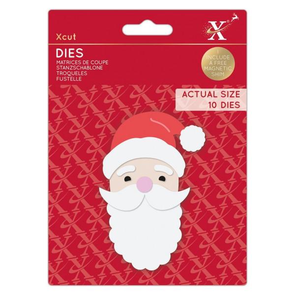 Build A Santa / Weihnachtsmann - Stanzschablone - Dies von XCUT (XCU 503522)