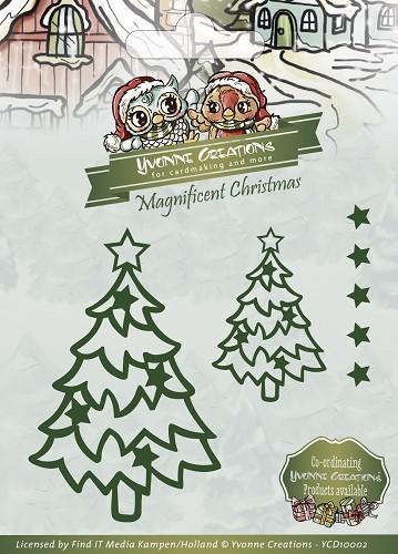 Christmas Star Tree / Weihnachtsbäume Stanzschablone von Yvonne Creations