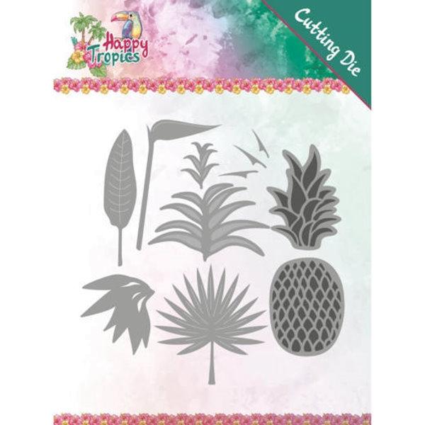 Lush Leaves / üppige Blätter und Ananas - Stanzschablone
