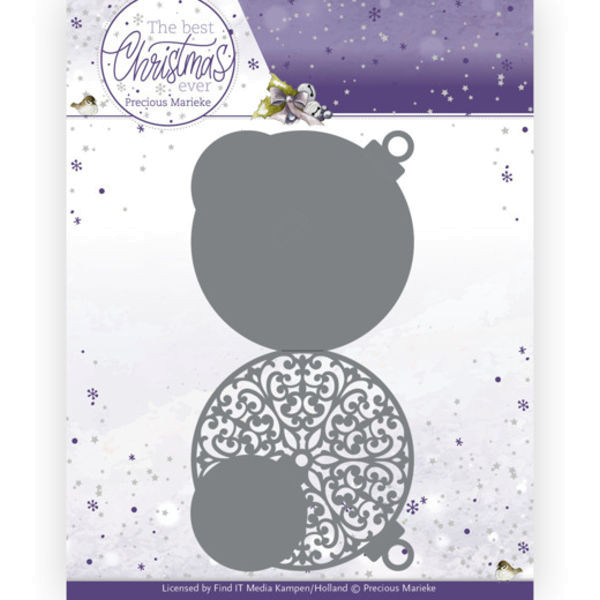 Christmas Bauble Shape Card / Weihnachtskarte als Christbaumkugel - The Best Christmas Ever Collecti