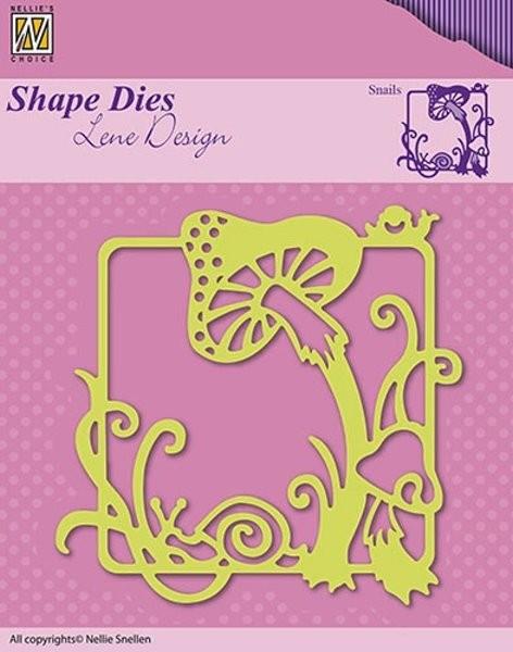 Snails / Schnecke und Pilze - Shape Dies by Lene Design - Stanzschablone