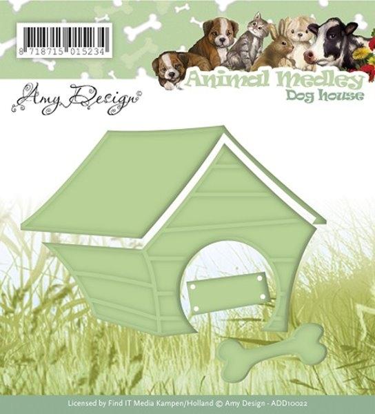 Hundehütte / Dog house - Stanzschablone
