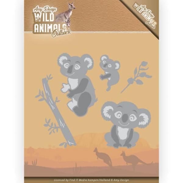 Koala - Wild Animals Outback - Stanzschablone