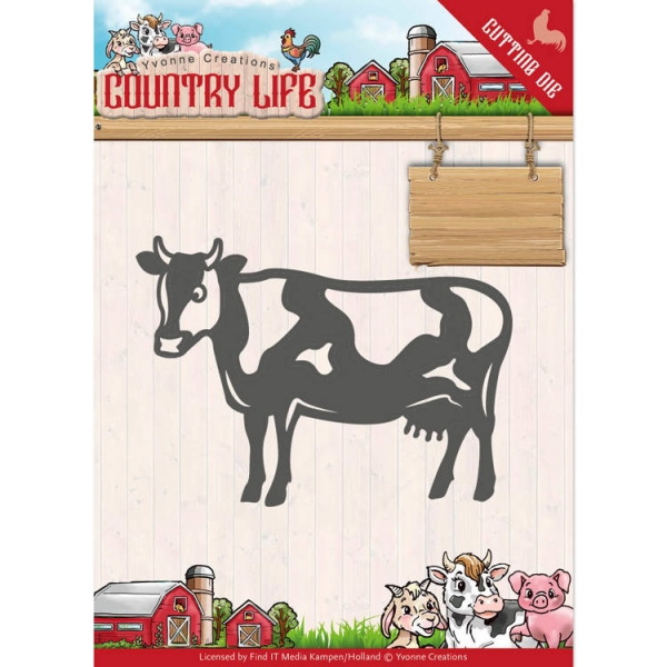Country Life Kuh / Cow- Stanzschablone