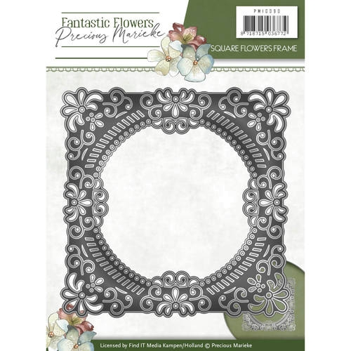 Square Flowers frame - Fantastic Flowers - Stanzschablone