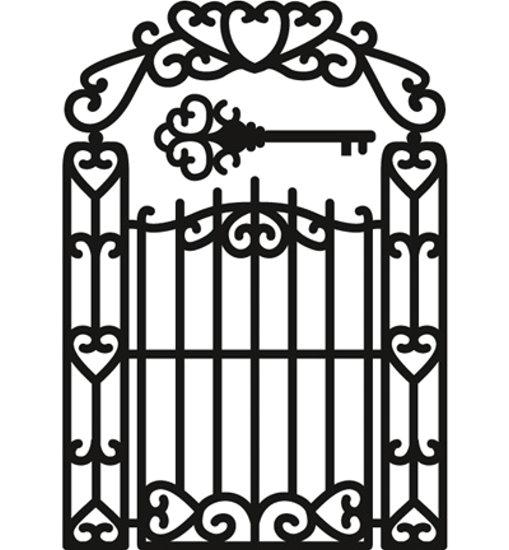 Gartentor / Garden Gate - Stanzschablone