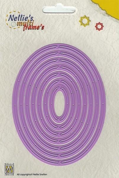 revolving oval / rotierende Ovale - Stanzschablone