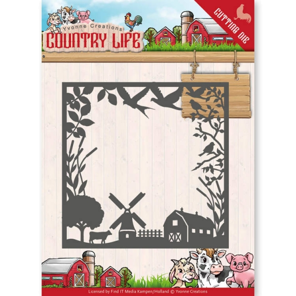Country Life Frame - Stanzschablone
