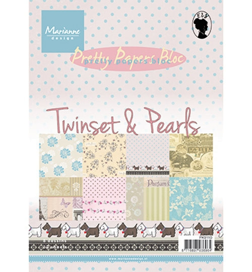 Motivpapier-Set / Scrapbook - Twinset & Pearls