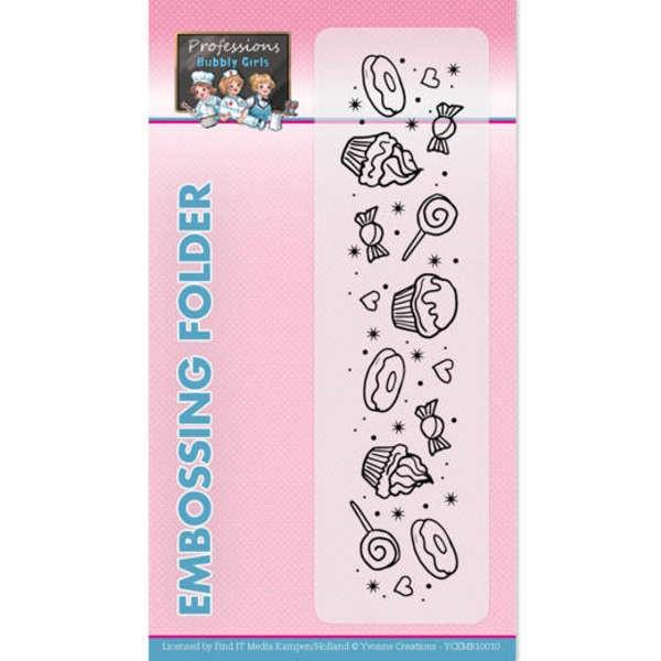 Bubbly Girls - Professions - Prägeschablone / Embossing Folder von Yvonne Creations (CDCEMB10010)