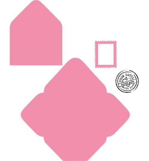 Briefumschlag - Stanzschablone und Stempel