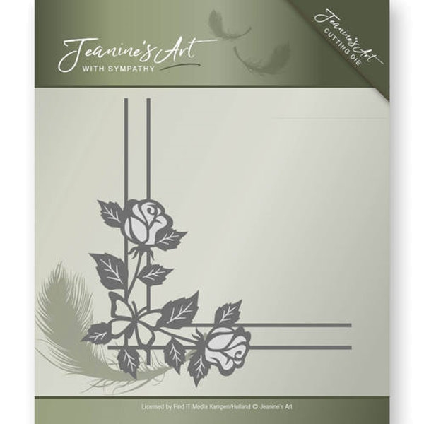 Rose Corner - With Sympathy Collection - Stanzschablone
