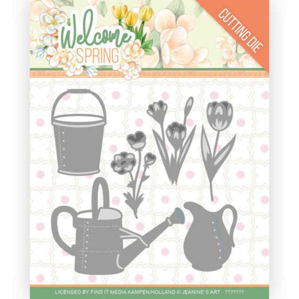 Watering Can and Bucket - Welcome Spring Collection von Jeanine´s Art (JAD10117)
