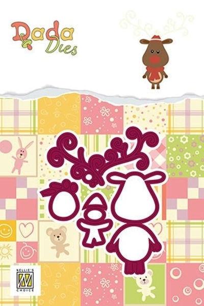 """""""Rudolph"""" Reindeer / Rentier - DADA Dies Christmas von Nellie´s Choice (DDD017)"""