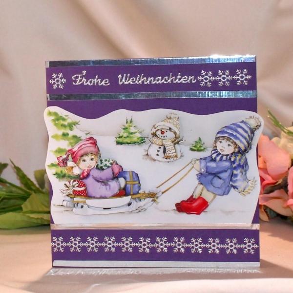 Grußkarte zum Weihnachtsfest / 3D Motivkarte