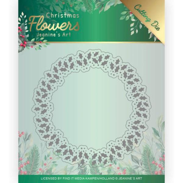 Weihnachtskranz / Holly Christmas Wreath - Stanzschablone
