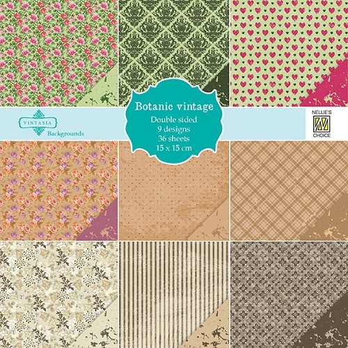 Motivpapier-Set / Scrapbook - Nellie Snellen - Botanic Vintage