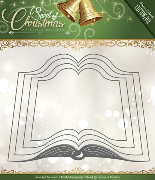 Santas Book / Das Buch des Weihnachtsmann´s - Stanzschablone