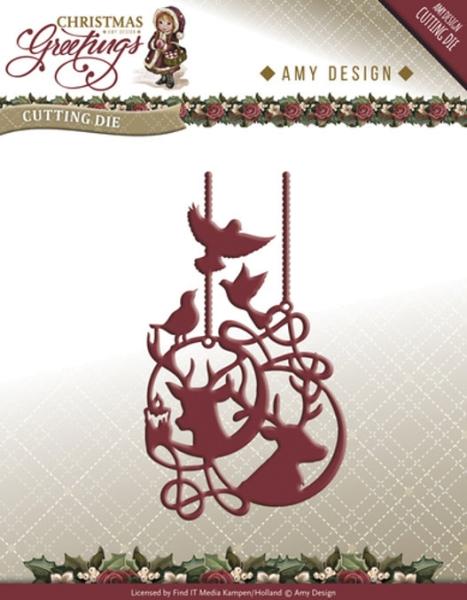 Rentier Ornament - Stanzschablone