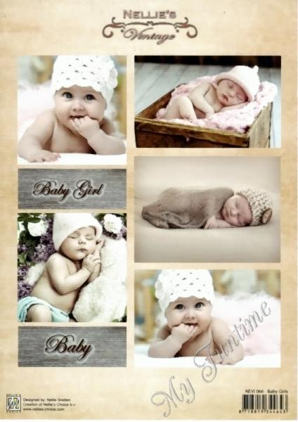 Schneidebogen - Baby Girl - Vintage