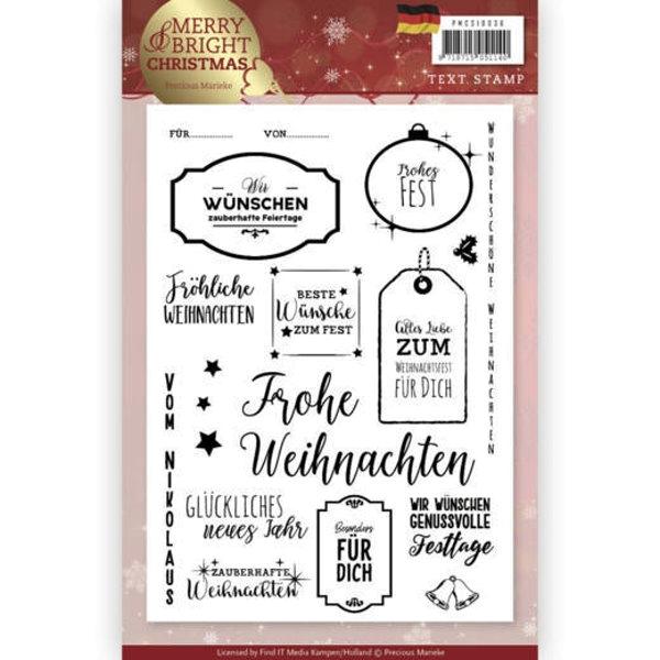 Weihnachtliche Grüße - Textstempel - Clearstamp / Stempel