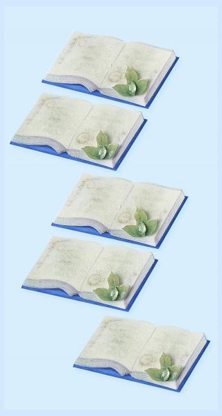 CREApop® Sticker - Buch - 5er Pack